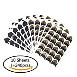 SUMAJU 10 Sheets (Pack of 240) Photo Corners Stickers, Self-Adhesive Photo Mounting Corners Sticker Card Stock for DIY Scrapbook, Picture Album, Personal Journal, Dairy