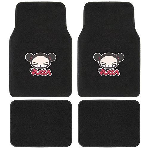 Cute Car Floor Mats (Pucca Floor Mats for Car, SUV - Cute Design, Original Logo, 4 Piece)