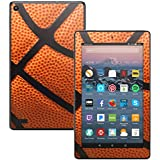 MightySkins Skin for Amazon Kindle Fire 7 (2017) - Basketball | Protective, Durable, and Unique Vinyl Decal wrap Cover | Easy to Apply, Remove, and Change Styles | Made in The USA