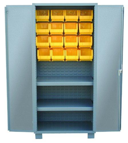 Jamco Products Inc HY260-GP Plastic Bin And Shelf Cabinet Two Shelves, 24-Inch x - Plastic Bin Gp