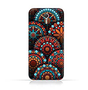 Motorola Zuk Z1 TPU Silicone Case With Abstract Blue Mesh Pattern