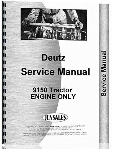 Download Deutz 9150 Tractor ENGINE ONLY Service Manual pdf epub