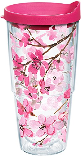 Tervis 1261041 Japanese Cherry Blossom Tumbler with Lid, 24 oz, Clear by Tervis