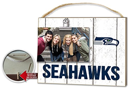 KH Sports Seattle Seahawks Weathered Clip-It Photo Frame