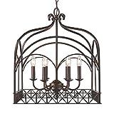 Golden Lighting 5815-6 FB Gateway – Six Light Chandelier, Fired Bronze Finish