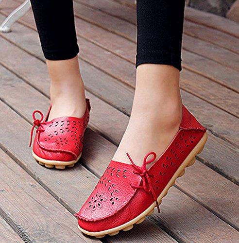 Mocassino Casual Cavo Rosso Estate Stile Donna Donne Scarpe Scarpe Barca Ragazze Pantofole qZBnftS