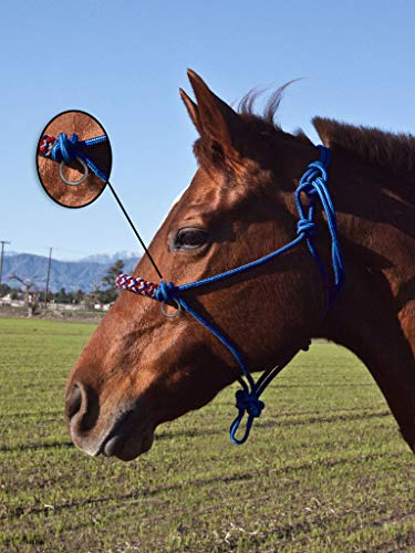 Kensington Side Pull Rope Training Halter with Double Filled Nylon Cord, Braided Nose (Patriot Plaid) Double Rope Side Pull