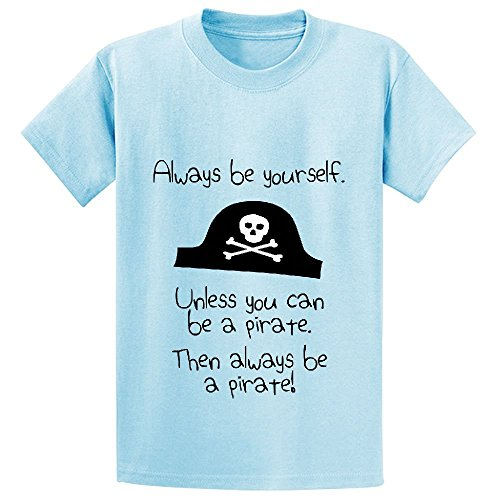 Price comparison product image Chas Always Be Yourself Unless You Can Be A Pirate Boys' Graphic Shirts L-blue
