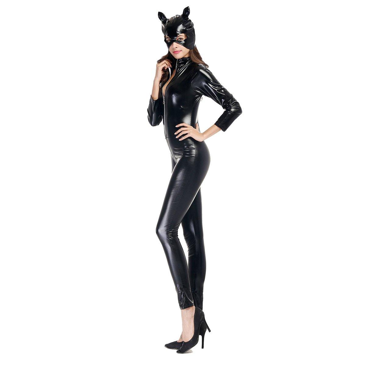 Amazon.com: Womens Halloween Sexy Catsuit Cosplay Costume ...