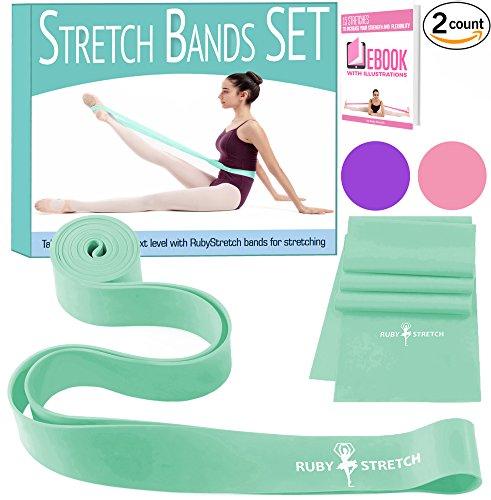 llet - Exercise Resistance Band Set for Dance - 2 Dance Stretch Bands Set ()