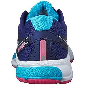 Saucony Women's Ride 9 Running Shoe (9.5 A - Narrow, Navy   Blue   Pink)