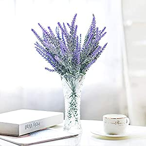 Veryhome Artificial Lavender Flowers Bouquet Fake Lavender Plant for Wedding Home Garden Decor 8 Bundles 2