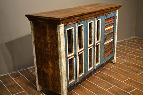 Crafters and Weavers Reclaimed Wood Sideboard Cabinet Bookcase China Cabinet TV Credenza