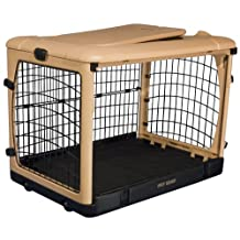 Pet Gear The Other Door Steel Crate with Fleece Pad for Cats and Dogs up to 70-Pounds, Tan