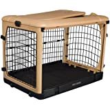 Pet Gear The Other Door Steel Crate with Pad and Carry Bag, Tan