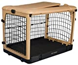 Pet Gear The Other Door Steel Crate  - Tan/Black - 36''