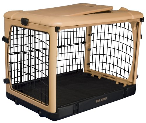 Pet Gear The Other Door Steel Crate  - Tan/Black - 36'' by Pet Gear