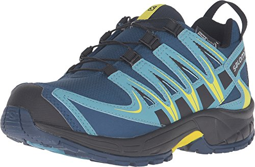 Salomon Kid's XA Pro 3D CS WP Junior Sneakers, Blue Textile, 1 Salomon Kids Xa Pro Shoe