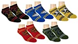 Harry Potter Womens Ankle-No Show Socks 5 Pair Pack Multi Color (Multi-color)