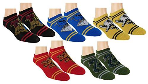 Harry Potter Womens No Show Socks 5 Pair