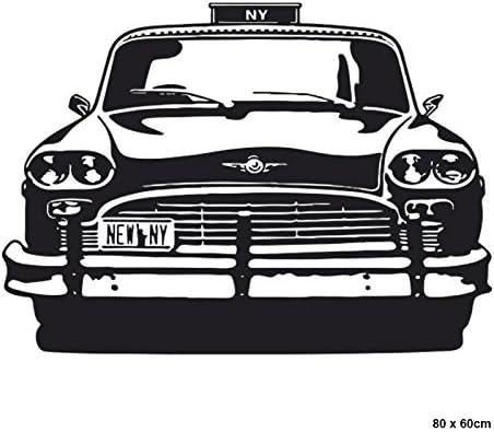 IDEAVINILO Vinilo Decorativo Taxi de New York. Color Negro. Medidas: 80x60cm: Amazon.es: Hogar