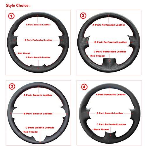 ABLEE Loncky Microfiber Leather Car Steering Wheel Cover for BMW E46 E39 330Ci 330i 525i 530i 540i M3 Accessories (Customization) (540i Bmw Wheel)
