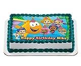 bubble guppies sheets - Bubble Guppies Quarter Sheet Edible Photo Birthday Cake Topper. ~ Personalized! 1/4 Sheet
