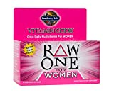 Garden of Life Vegetarian Multivitamin Supplement for Women - Vitamin Code Raw One Whole Food Vitamin with Probiotics, 75 Capsules