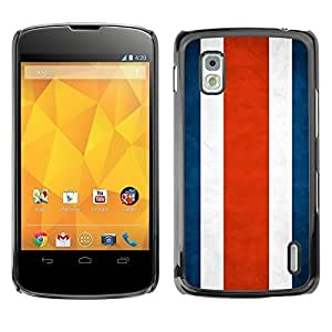 YOYO Slim PC / Aluminium Case Cover Armor Shell Portection //Costa Rica Grunge Flag //LG Google Nexus 4