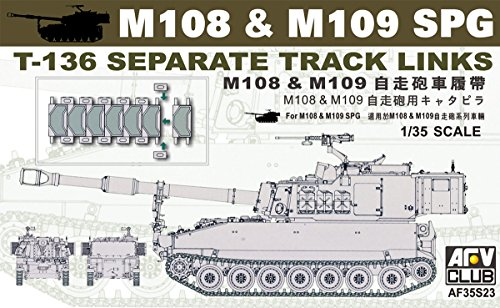 - M-108 & M-109 SPG T136 Separate Track Links 1-35 AFV Club