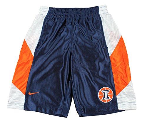 - Nike NCAA Big Boys Youth Illinois Fighting Illini Basketball Tourney Shorts, Navy