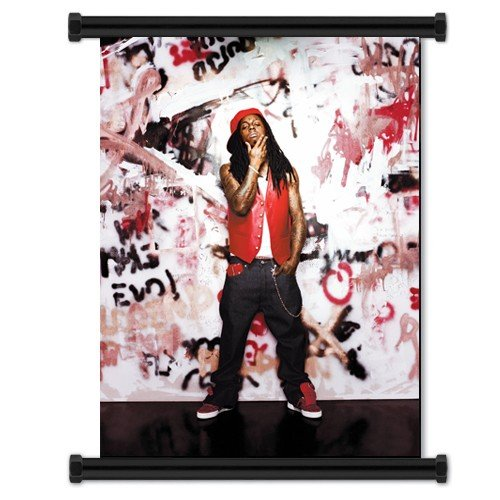 (Lil Wayne Rapper Fabric Wall Scroll Poster (16