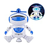 Magneticspace Robot Toys Walking Dancing Singing Robot with Musical and Colorful Flashing Lights 360° Body Spinning Robot Toy Gift For Kids Boys Girls Toddlers