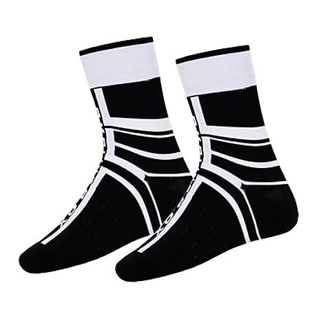 Bicicleta Calcetines Corriendo escalada medias calcetines, Hombre, color blanco y negro, tamaño talla