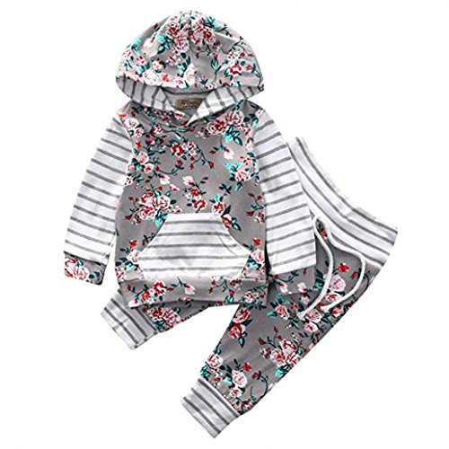 Baby Girls Cartoon Printed Long Sleeve Tops Pants Clothes Outfit Set (Multicolor) - 8