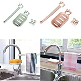 Faucet Drain Storage Racks Alinyf Kitchen Supplies Supplies Sink Sponge Dishcloth Towel Rags Drain Shelf Brush Rack Sink Storage Durable Holder Kitchen Sponge Rags Drying Support- 2Pack