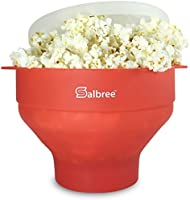 The Original Microwave Popcorn Popper -The Healthy Alternative to Bagged Popcorn - 14 Color Choices - by Salbree