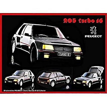Placa Metalica Retro Coche FRANCIA VINTAGE PLACA METAL 20x15cm Peugeot sport rally 205 turbo 16