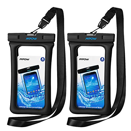 Mpow 084 Waterproof Phone Pouch Floating, IPX8 Universal Waterproof Case Underwater Dry Bag Compatible iPhone Xs Max/Xr/X/8/8plus/7/7plus Galaxy s10/s9/s8 Note 9 Google Pixel up to 6.5