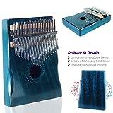 Moozica 17 Keys Kalimba Marimba, Solid Mahogany