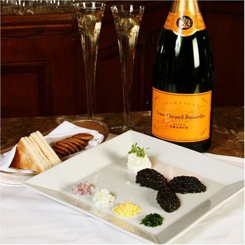American Caviar Sampler 4 oz -Hackelback, Paddlefish, Black Bowfin, Salmon Roe 1 oz each