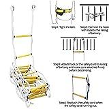QWORK 32 FT Emergency Fire Ladder Resistant Safety