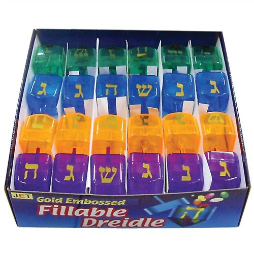 - Fillable Plastic Dreidels