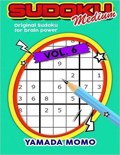 photograph about Sudoku Medium Printable named Sudoku Medium: Unique Sudoku For Mind Electricity Vol. 6
