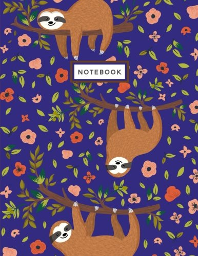 Notebook: Sloth Nightlife Blue Notebook (Composition Book, Journal) (8.5 x 11 Large) pdf epub