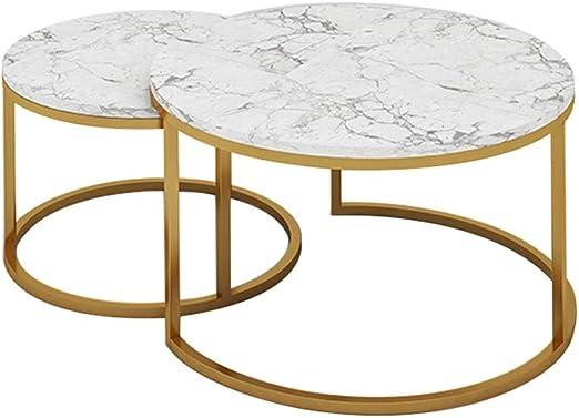 YIKE-Mesas de centro Combinación de Mesa de café de mármol de ...