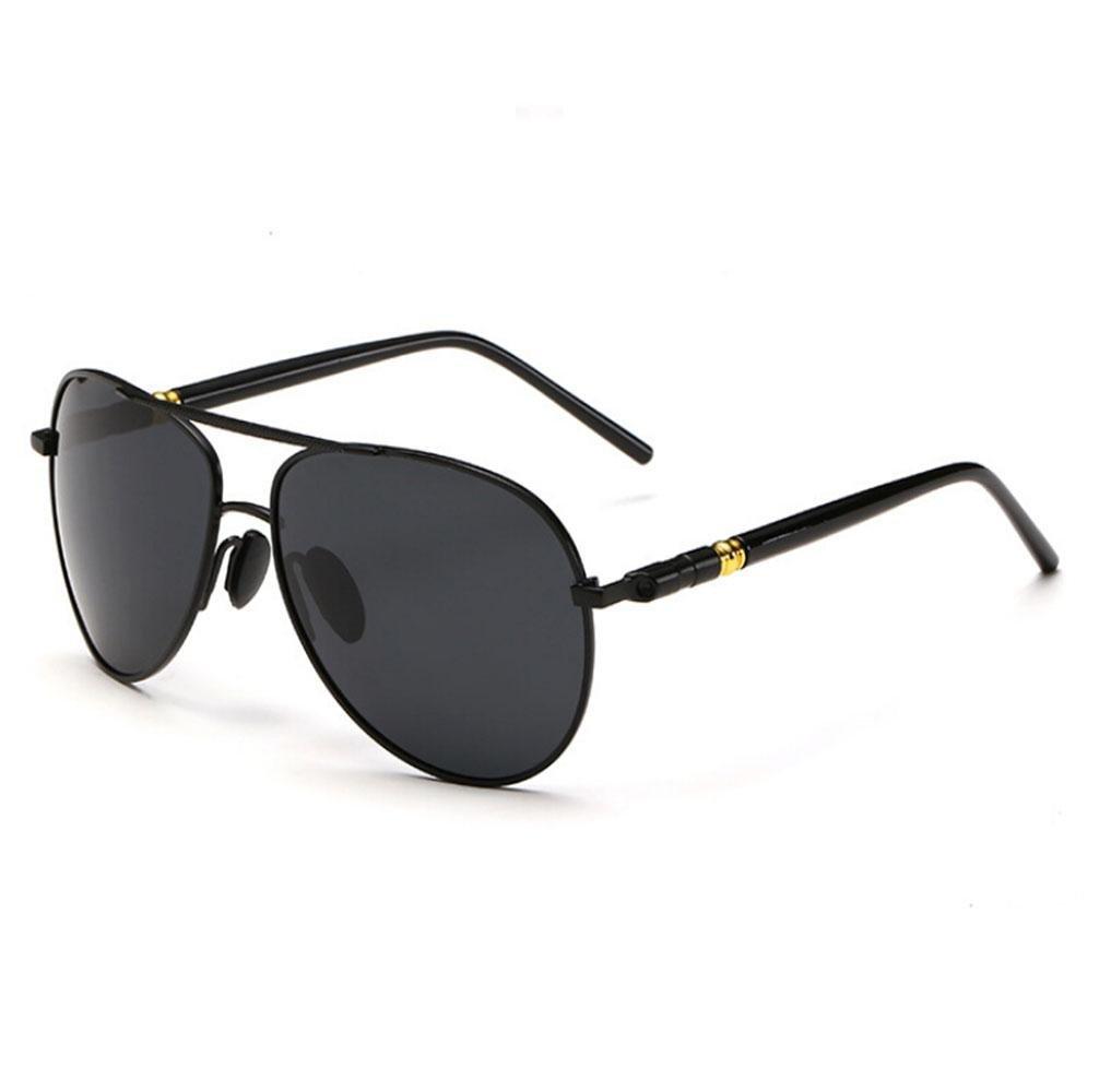 Z& YQ Occhiali da sole uomini Yurt specchio occhiali conducente occhiali di modo polarizzato , black box black Z&YQ sports