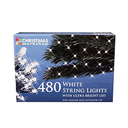 The Christmas Workshop 480 LED String Lights, Bright White