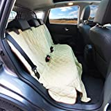 Luxury Dog Seat Cover With Side Flaps Superior Protection - Quilted Padding For Comfort – Washable Microfibre velvet - Virtually Indestructible - Great For Kids & Toddlers Too - For Cars or SUVs