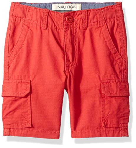 - Nautica Boys' Toddler Cargo Short, Austin Ruby, 3T